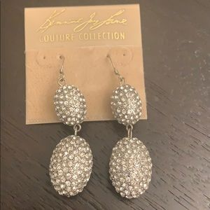 Kenneth Jay Lane pave drop earrings NWT KJL